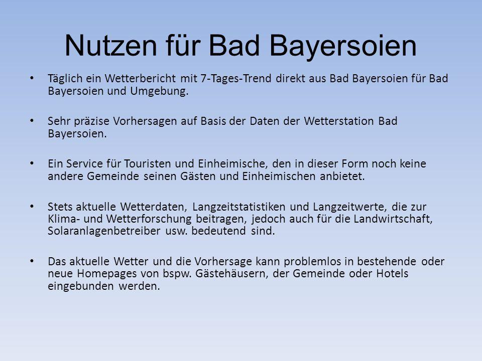 Nutzen für Bad Bayersoien