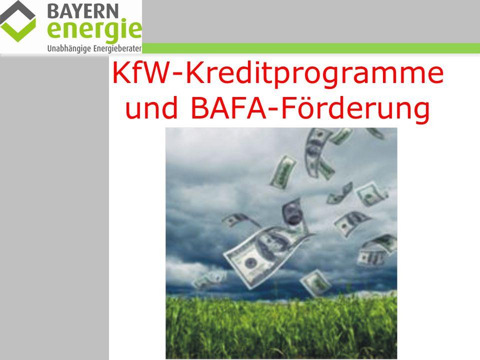 KfW-Kreditprogramme und BAFA-Förderung