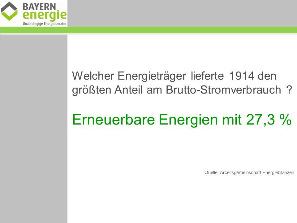 Erneuerbare Energien mit 27,3 %