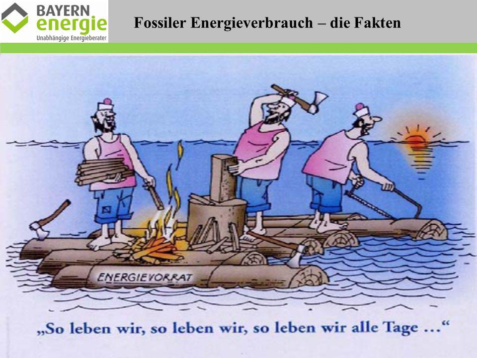 Fossiler Energieverbrauch – die Fakten