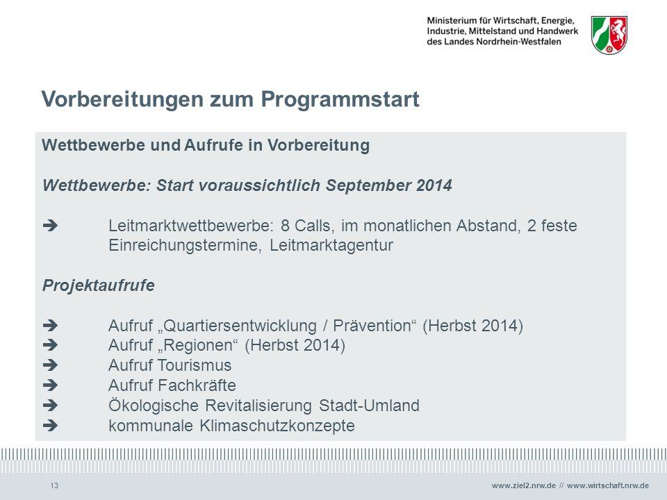 Vorbereitungen zum Programmstart