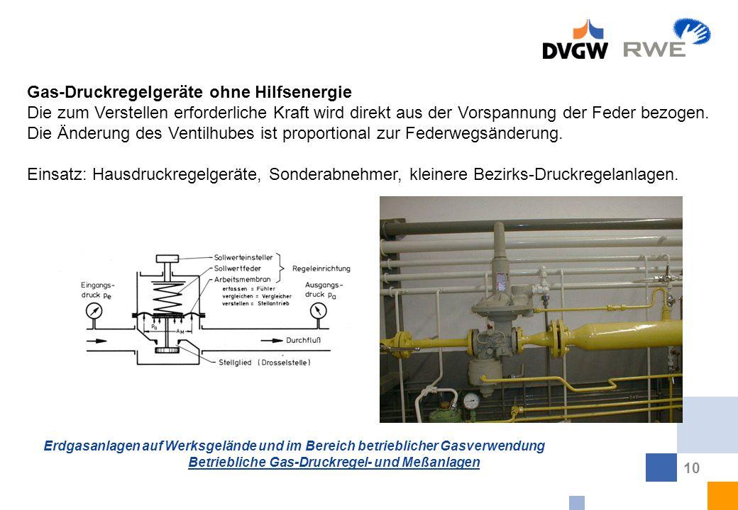 Gas-Druckregelgeräte ohne Hilfsenergie
