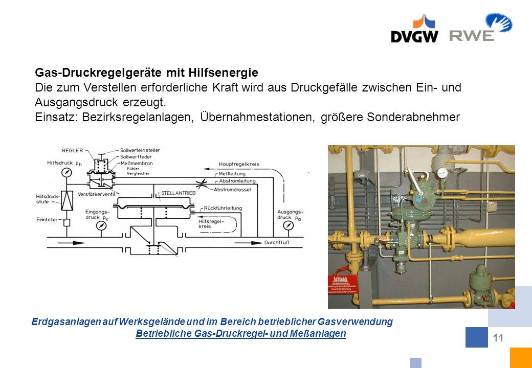 Gas-Druckregelgeräte mit Hilfsenergie