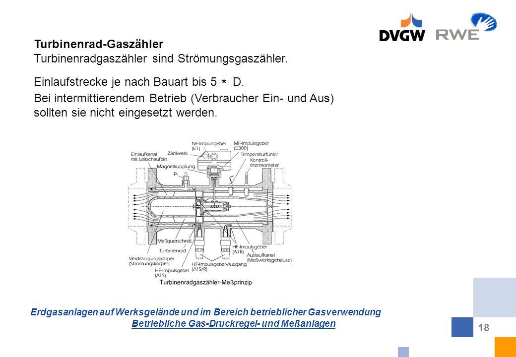 Turbinenrad-Gaszähler