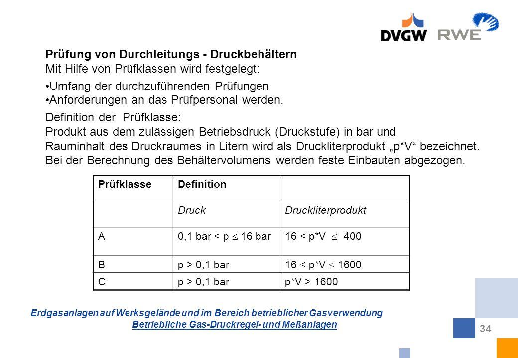 Prüfung von Durchleitungs - Druckbehältern