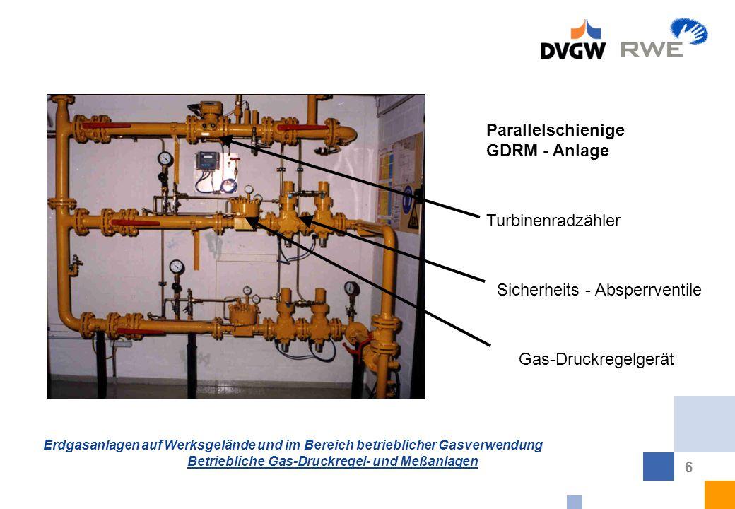 Parallelschienige GDRM - Anlage Turbinenradzähler Sicherheits - Absperrventile Gas-Druckregelgerät
