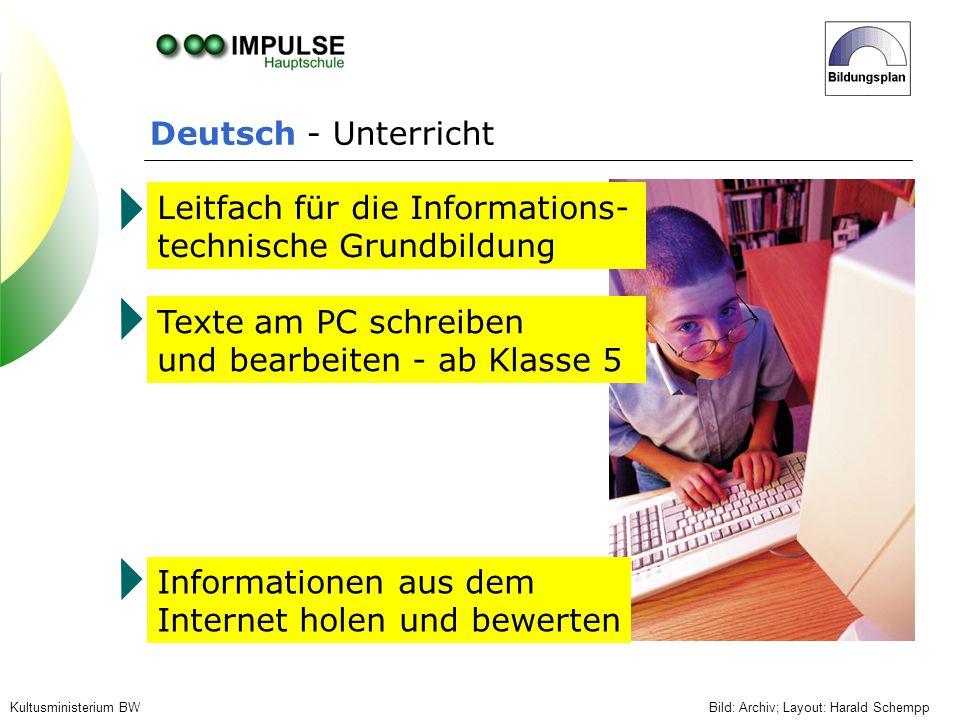 Leitfach für die Informations- technische Grundbildung