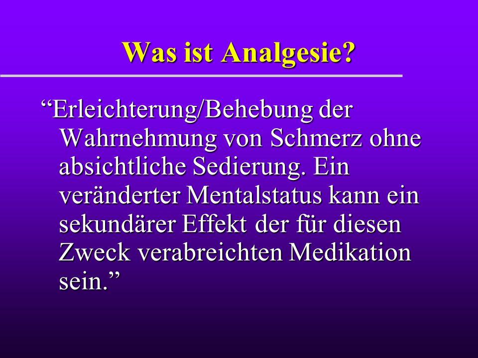 Was ist Analgesie
