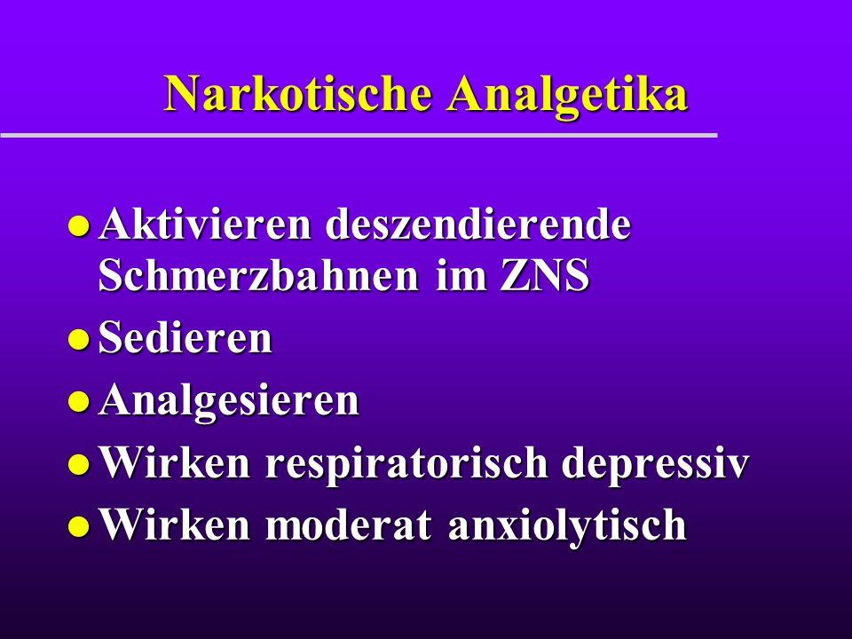 Narkotische Analgetika