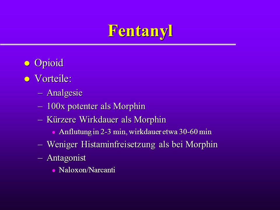 Fentanyl Opioid Vorteile: Analgesie 100x potenter als Morphin