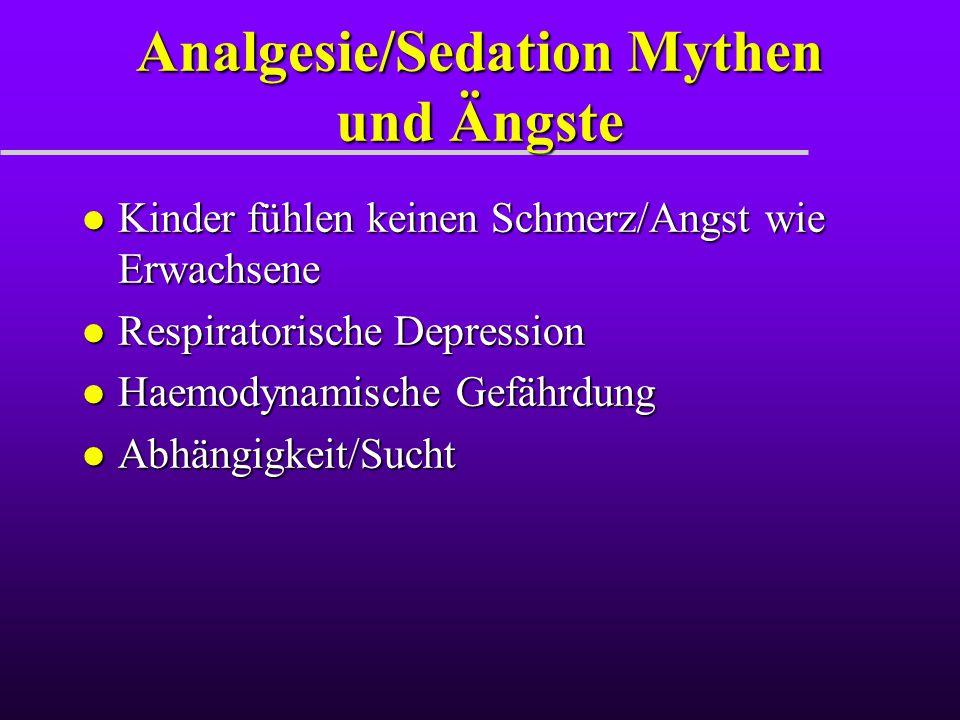 Analgesie/Sedation Mythen und Ängste