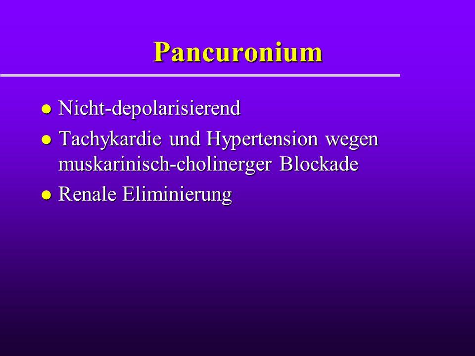Pancuronium Nicht-depolarisierend