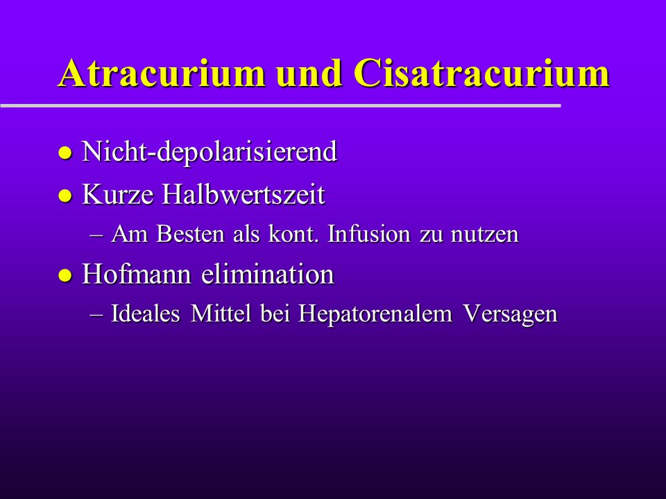 Atracurium und Cisatracurium