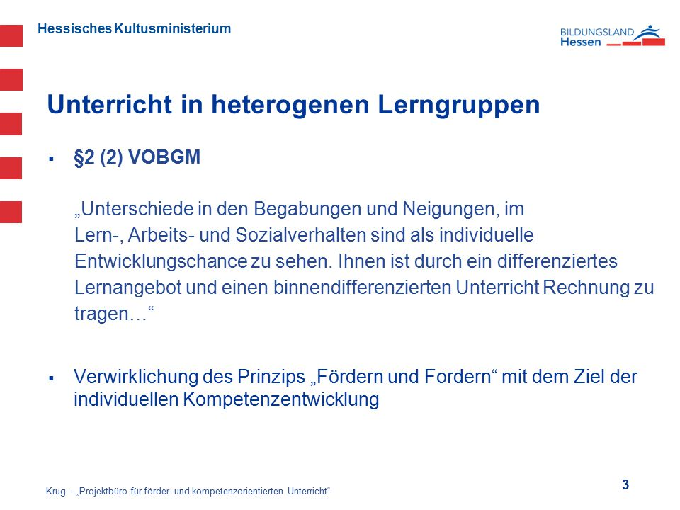 Unterricht in heterogenen Lerngruppen
