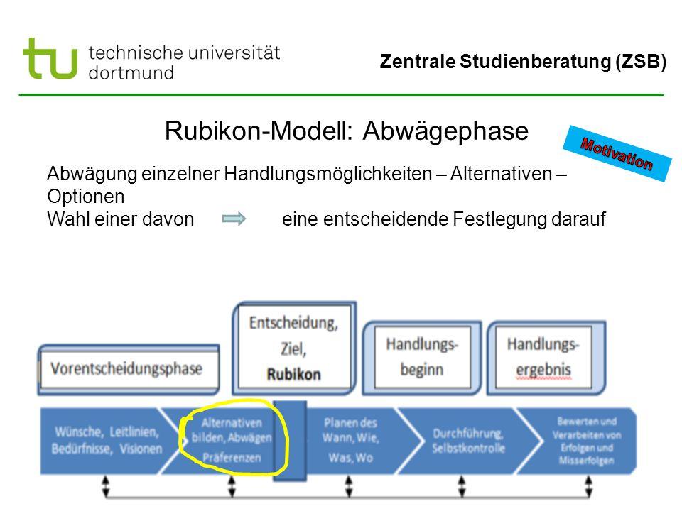 Rubikon-Modell: Abwägephase