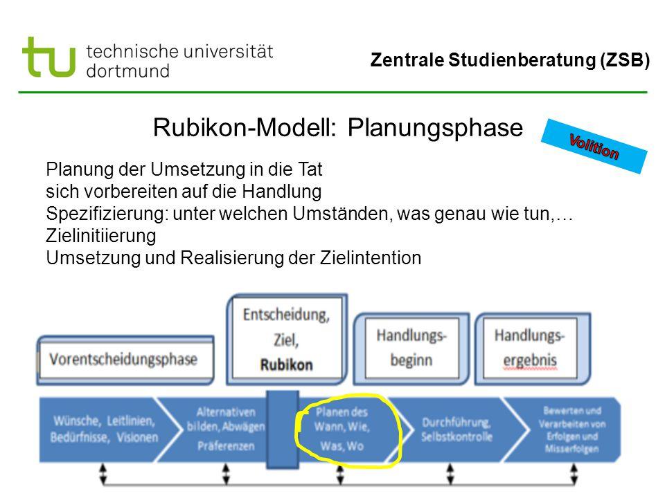 Rubikon-Modell: Planungsphase