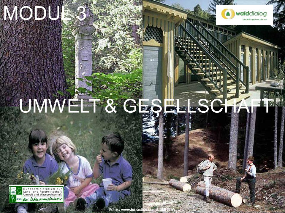 MODUL 3 UMWELT & GESELLSCHAFT Fotos: www.terraslide.com & BMLFUW