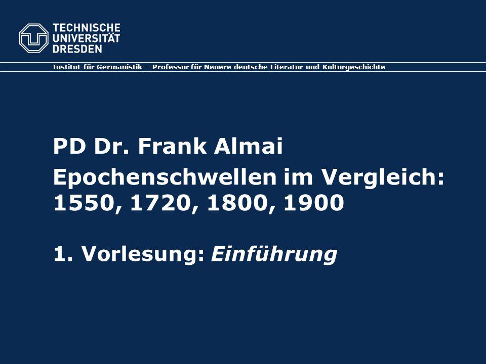 Institut für Germanistik – Professur für Neuere deutsche Literatur und Kulturgeschichte