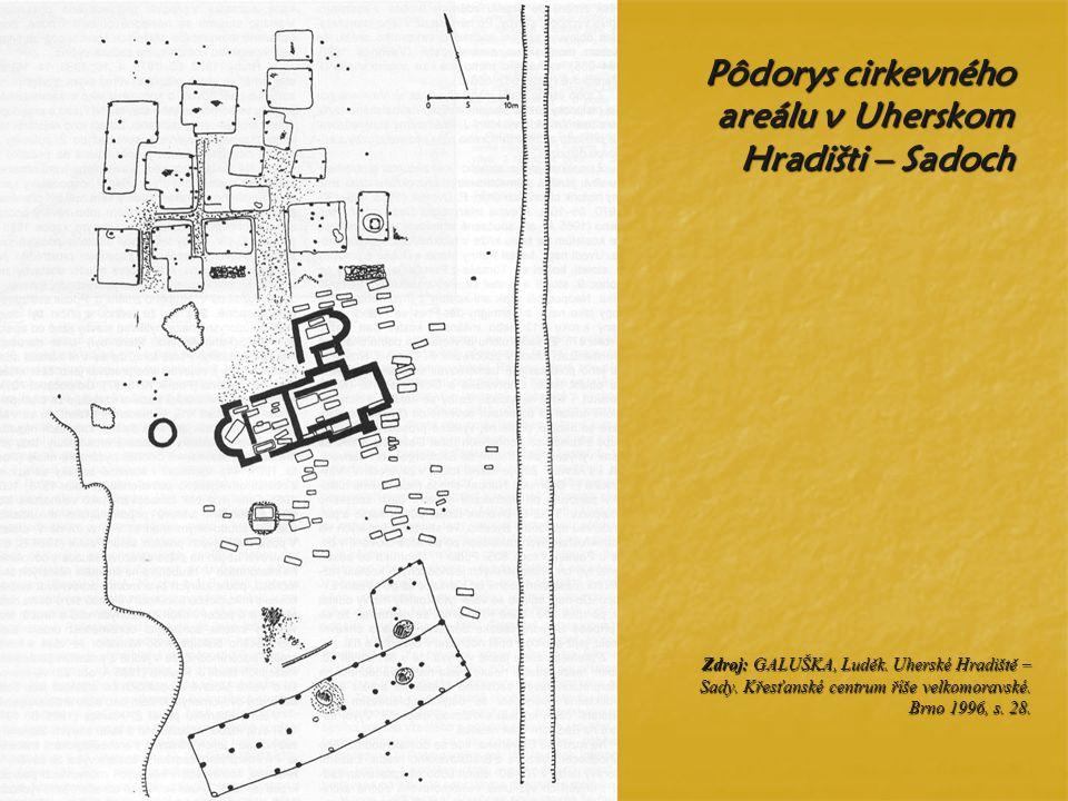 Pôdorys cirkevného areálu v Uherskom Hradišti – Sadoch