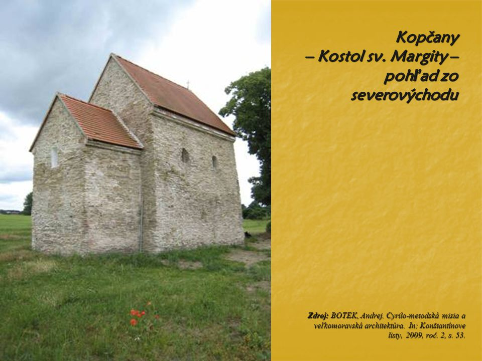 Kopčany – Kostol sv. Margity – pohľad zo severovýchodu