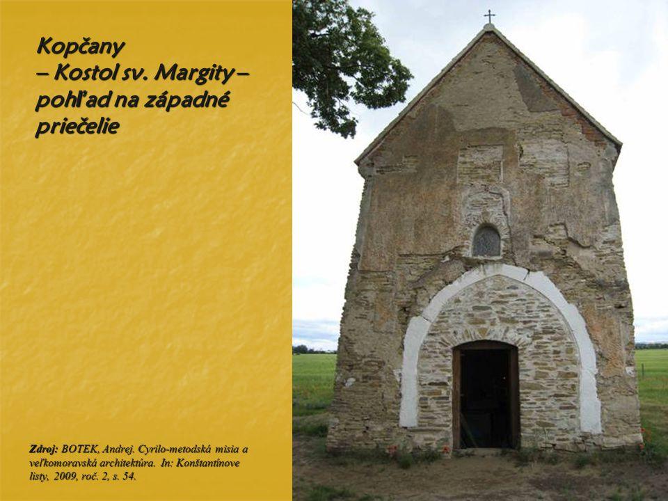 Kopčany – Kostol sv. Margity – pohľad na západné priečelie