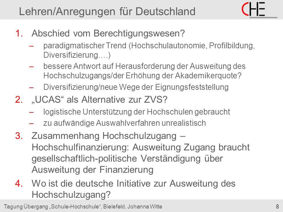 Lehren/Anregungen für Deutschland