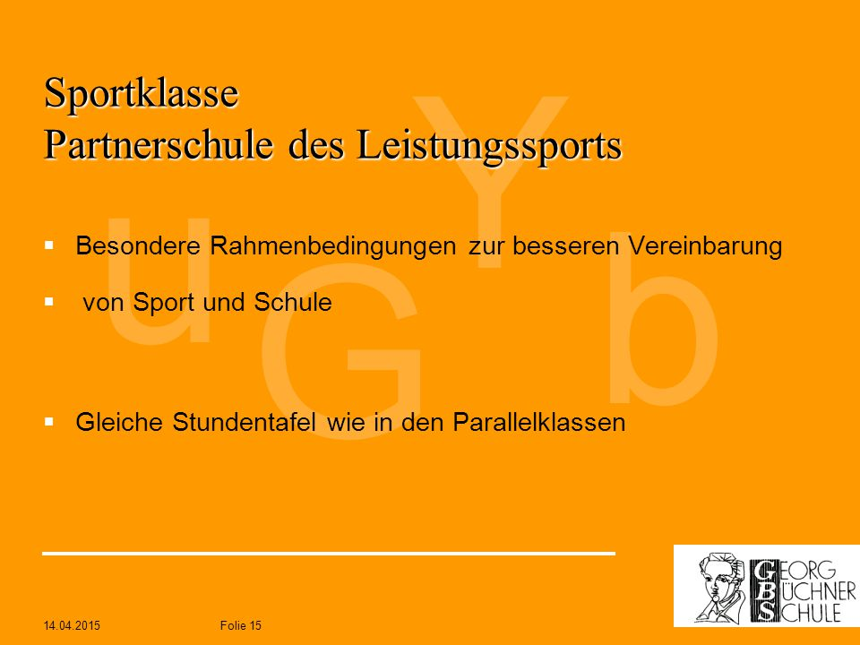 Sportklasse Partnerschule des Leistungssports