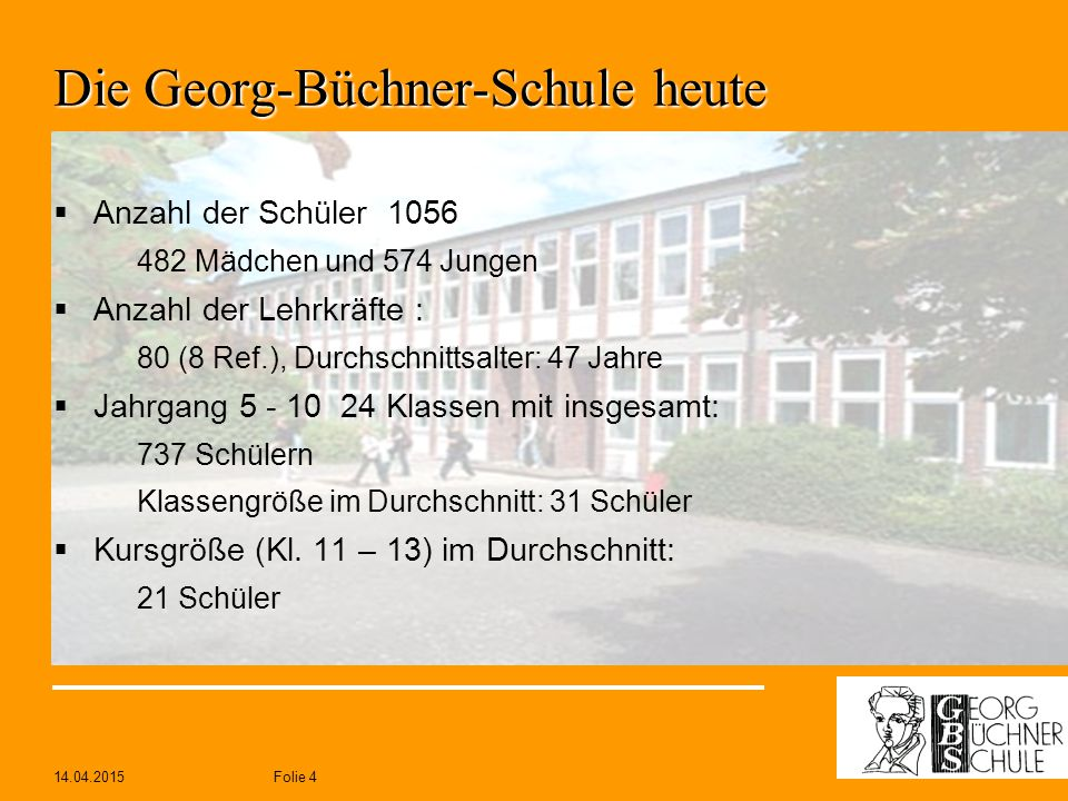 Die Georg-Büchner-Schule heute