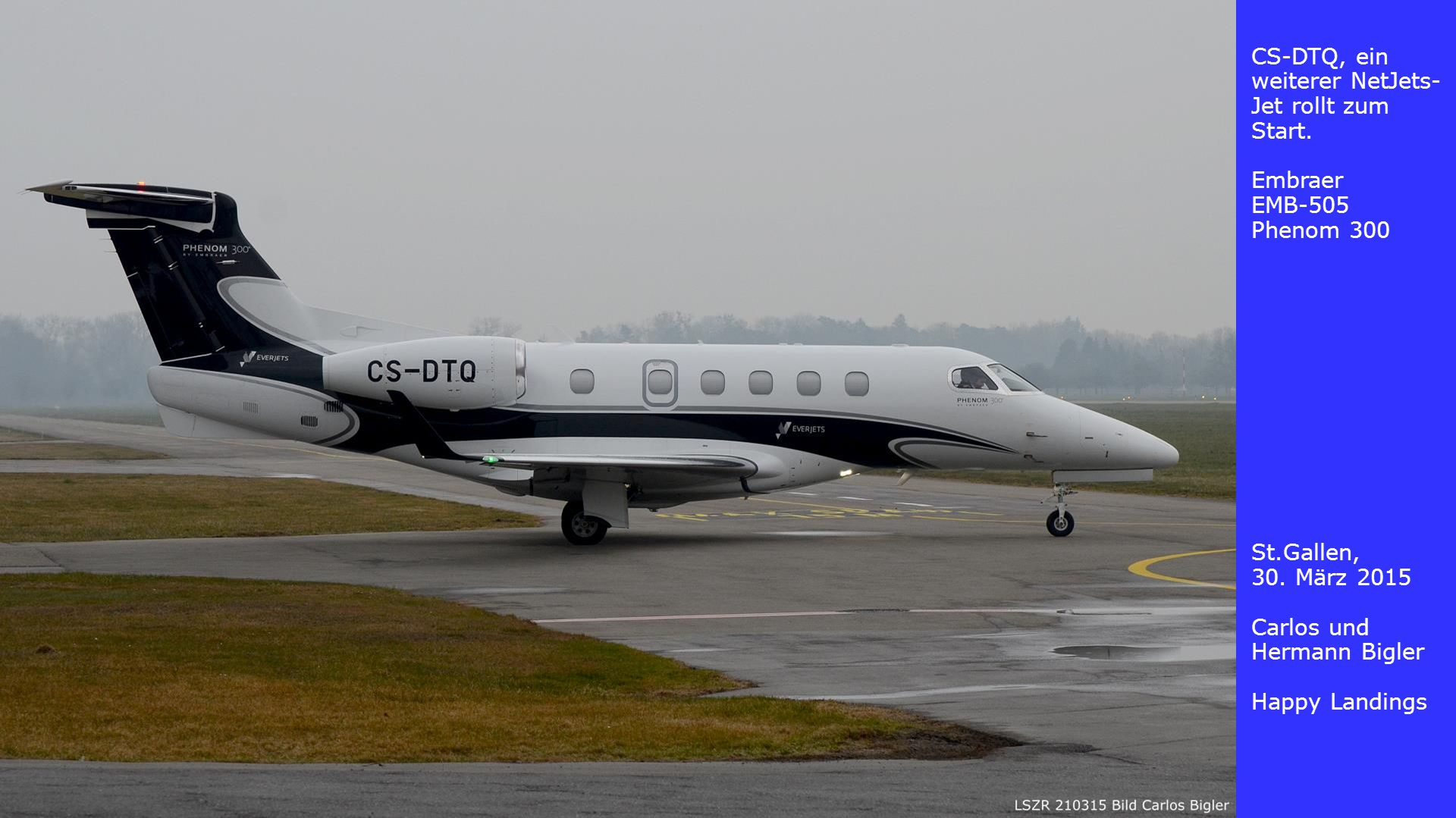 CS-DTQ, ein weiterer NetJets-Jet rollt zum Start