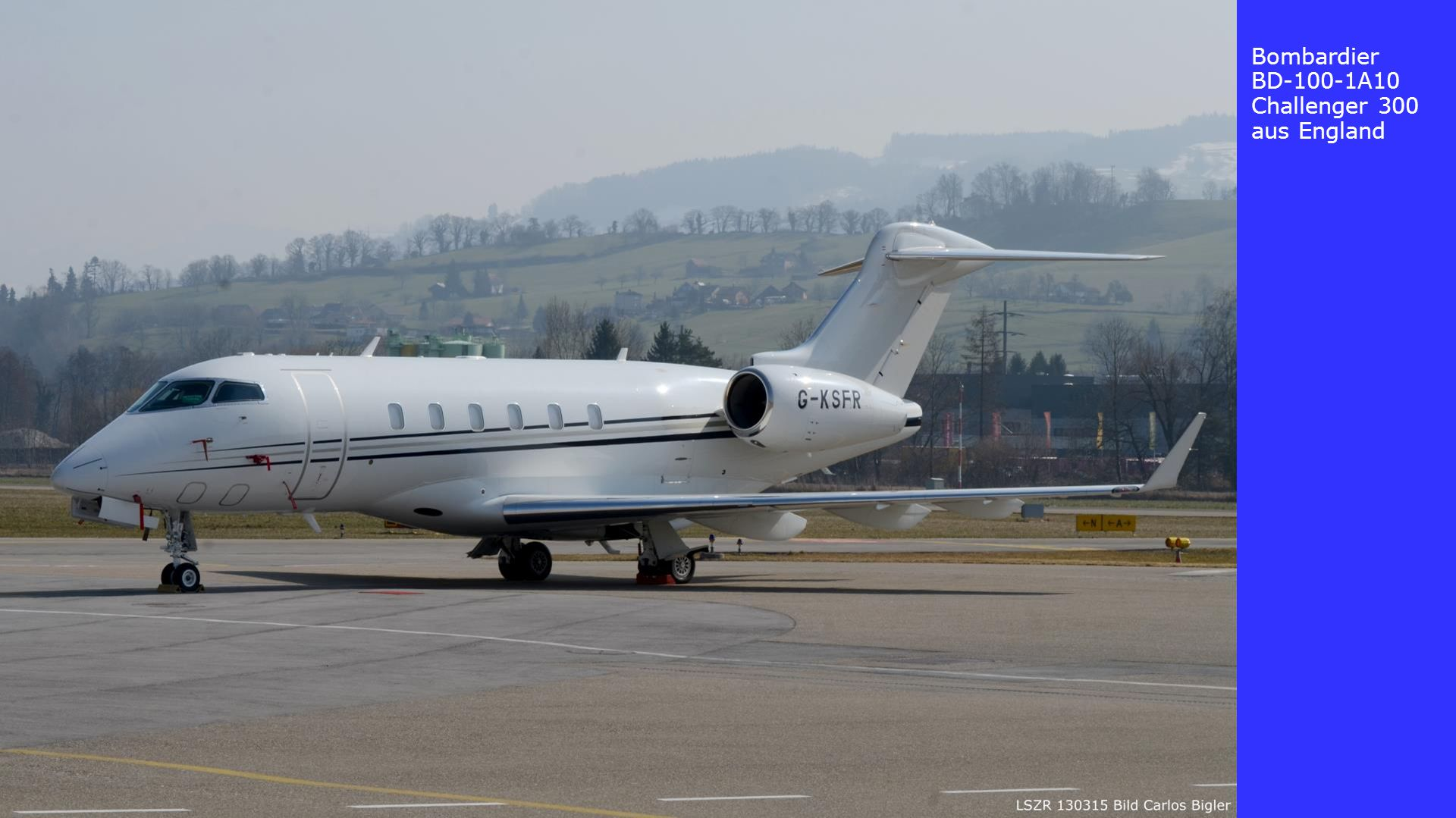Bombardier BD-100-1A10 Challenger 300 aus England