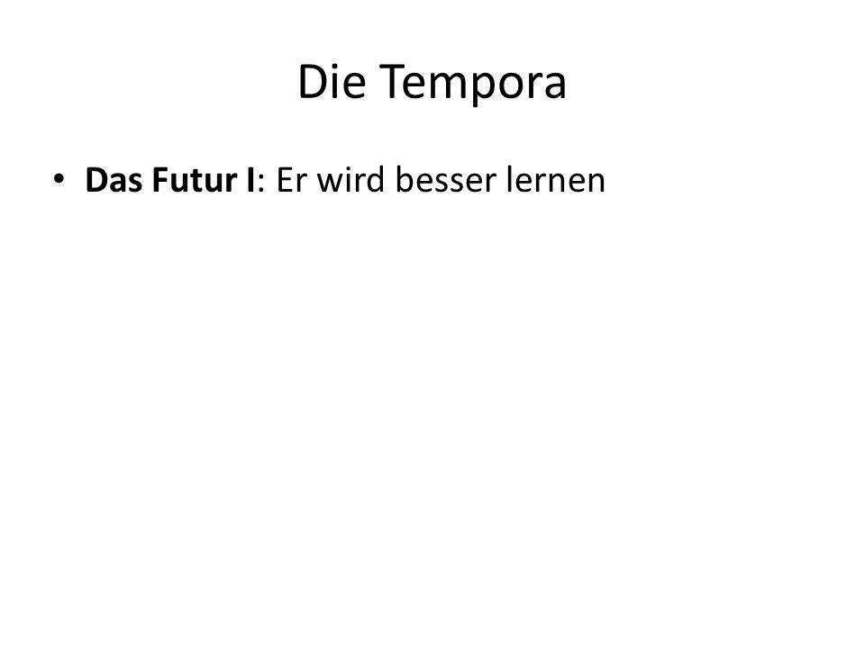 Die Tempora Das Futur I: Er wird besser lernen
