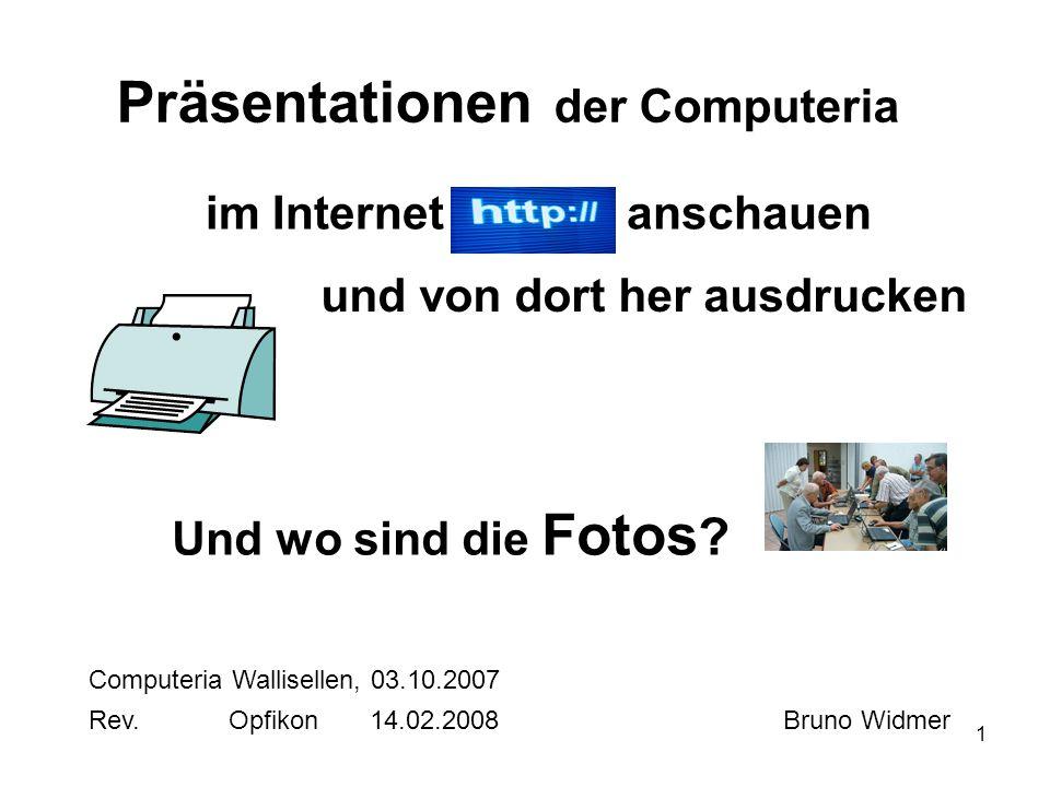 Präsentationen der Computeria