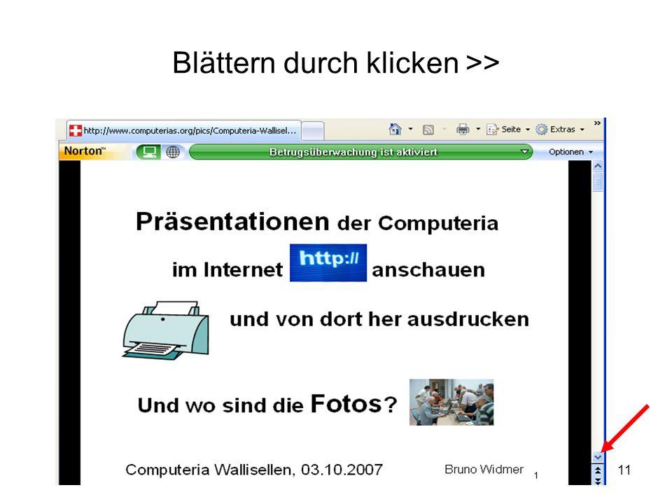 Blättern durch klicken >>