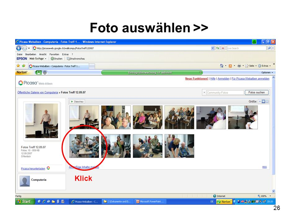 Foto auswählen >>