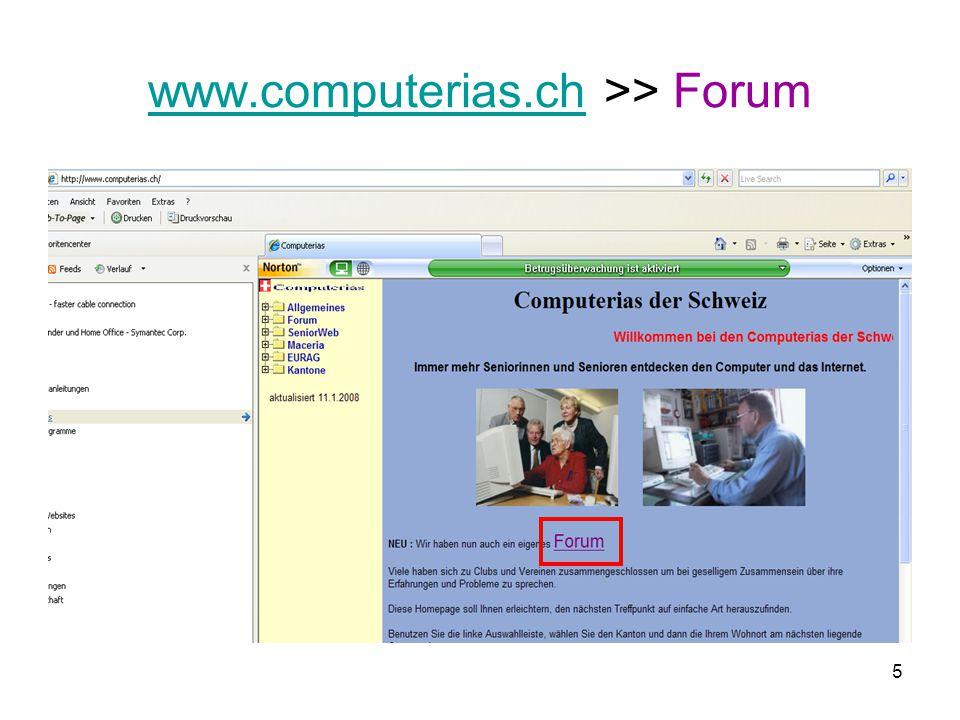 www.computerias.ch >> Forum