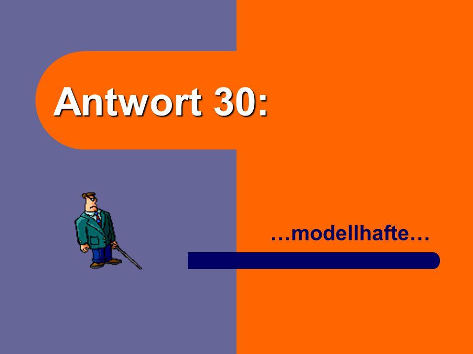 Antwort 30: …modellhafte…