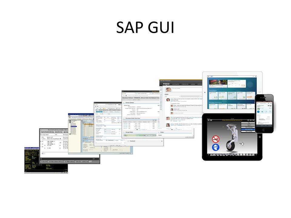 SAP GUI Evolution der SAP GUI: Entwicklung deutlich erkennbar. SAP GUI orientiert sich am Status Quo (Consumer Apps):