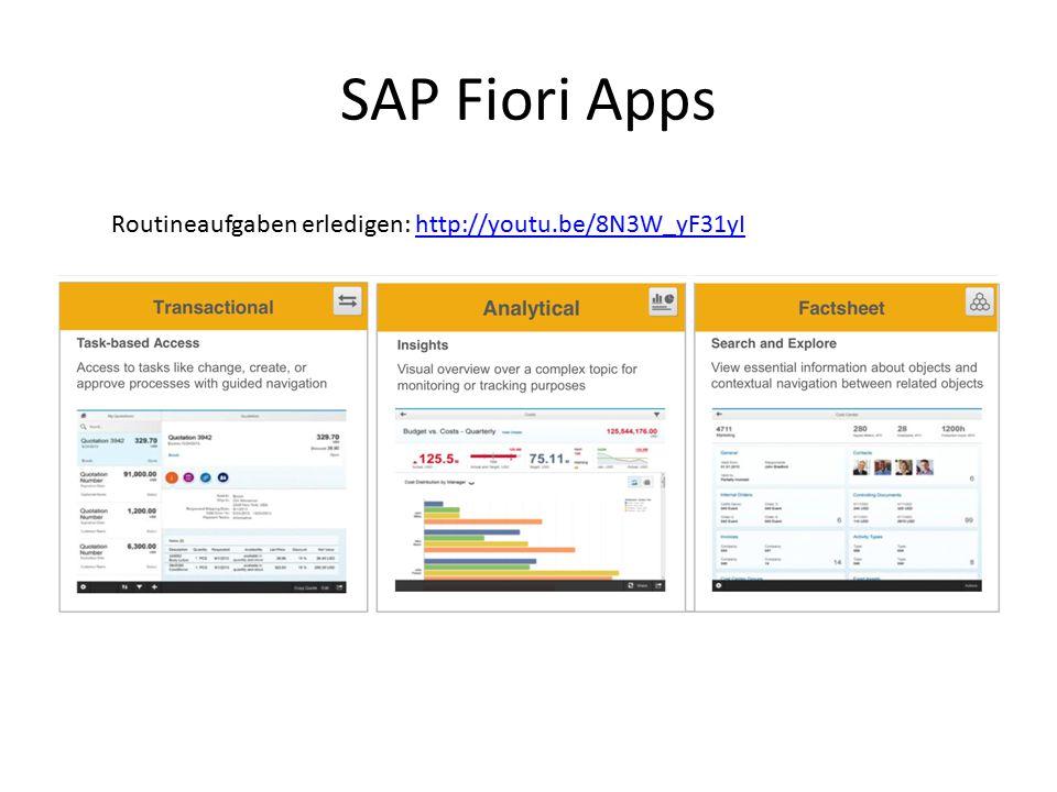 SAP Fiori Apps Routineaufgaben erledigen: http://youtu.be/8N3W_yF31yI