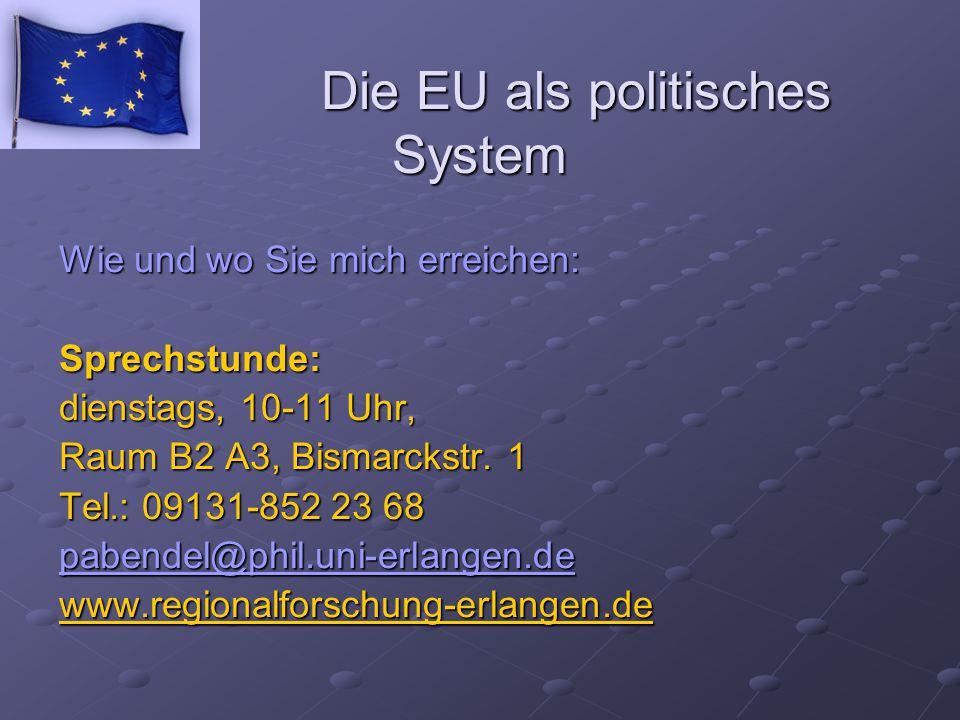 Die EU als politisches System