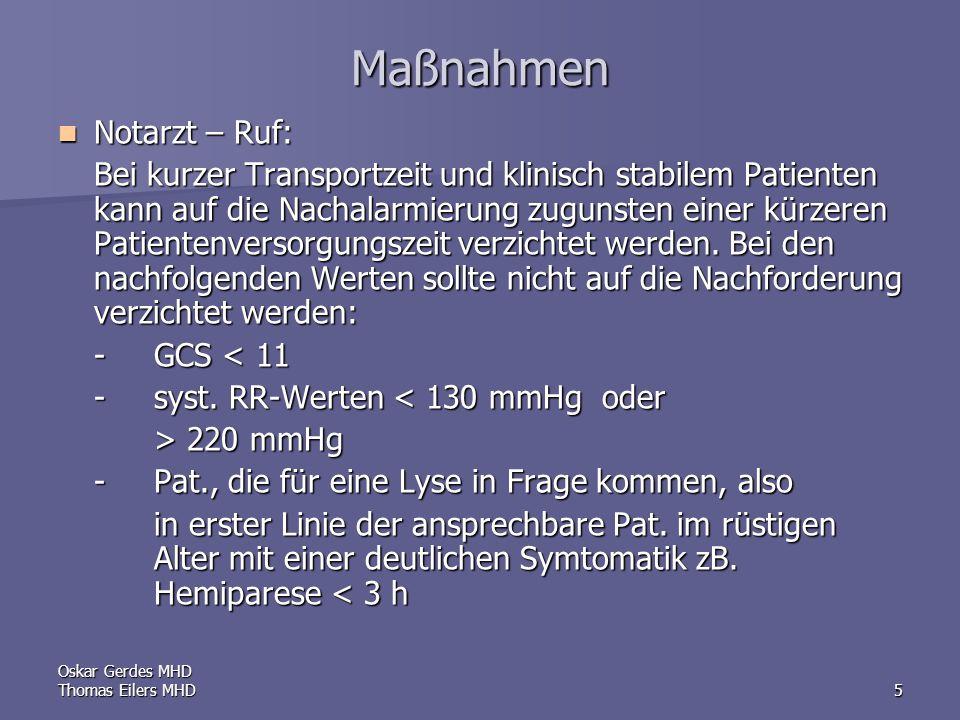 Maßnahmen Notarzt – Ruf: