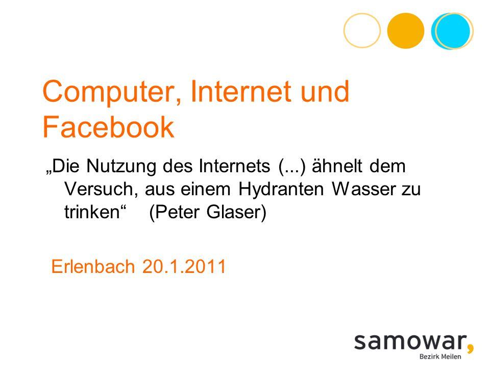 Computer, Internet und Facebook