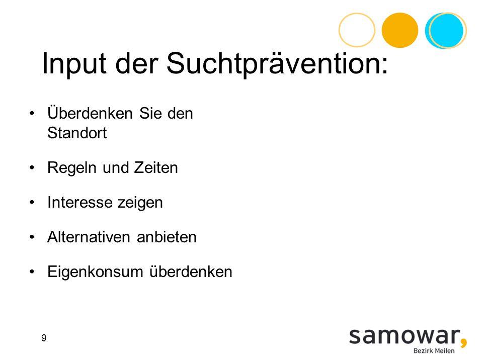 Input der Suchtprävention:
