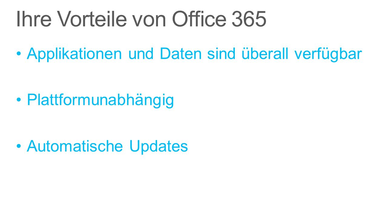 Vorteile von Office 365 Verwaltung über Adminportal