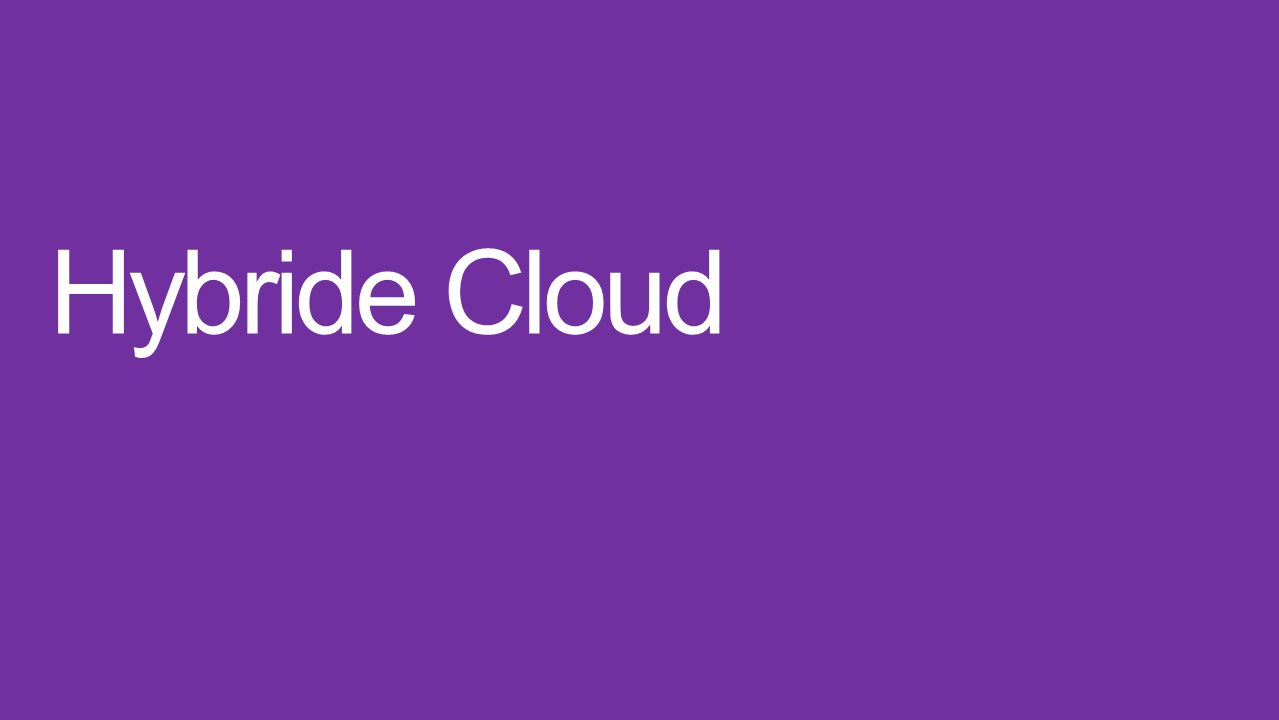 Hybride Cloud Idee: Server in die Cloud auslagern Keine Hardware