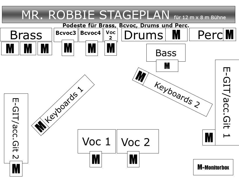 MR. ROBBIE STAGEPLAN für 12 m x 8 m Bühne