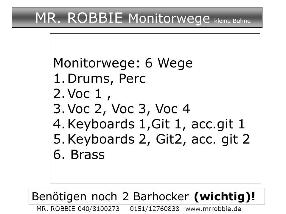 MR. ROBBIE Monitorwege kleine Bühne