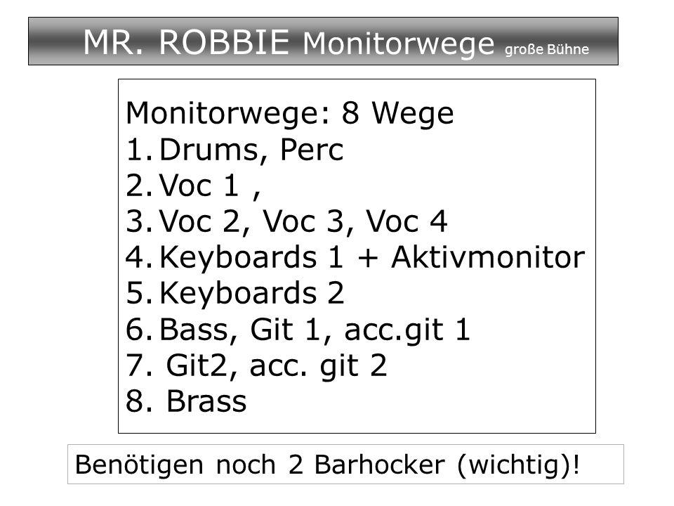 MR. ROBBIE Monitorwege große Bühne