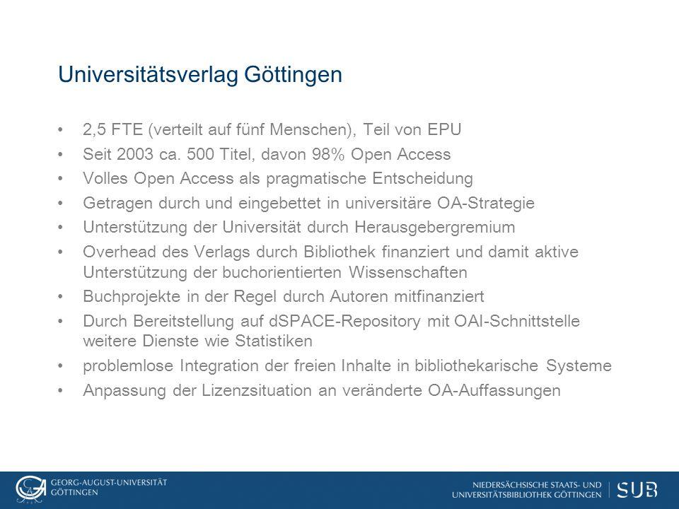 Universitätsverlag Göttingen