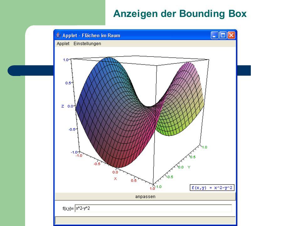 Anzeigen der Bounding Box