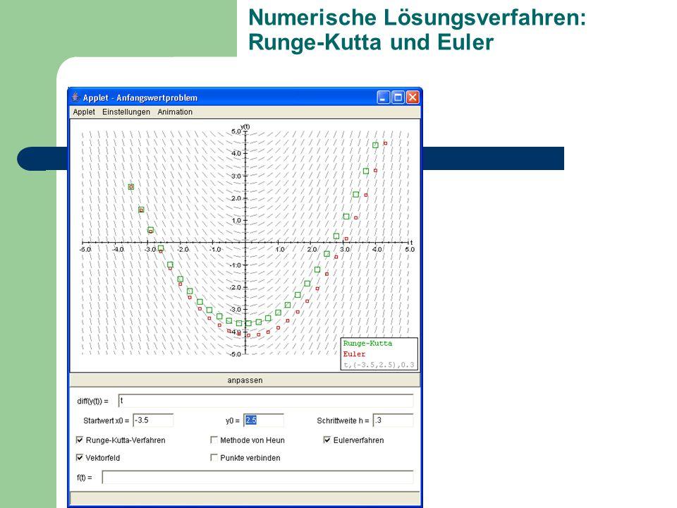 Numerische Lösungsverfahren: Runge-Kutta und Euler